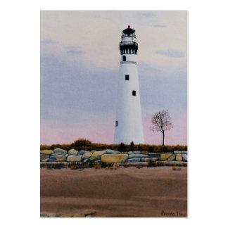 Evening's Lighthouset Art Card Large Business Card