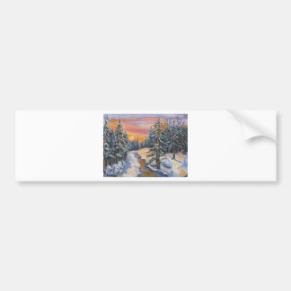Eveningsnow5.jpg Bumper Sticker