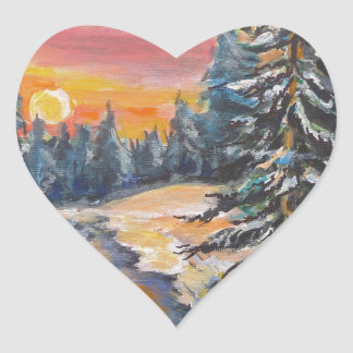 Eveningsnow5.jpg Heart Sticker