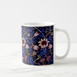 """Evenlode"" William Morris Textile Print Classic White Coffee Mug"