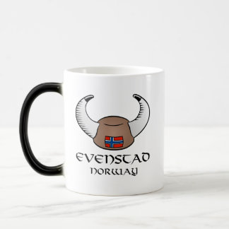 Evenstad Norway Viking Hat 11 Oz Magic Heat Color-Changing Coffee Mug