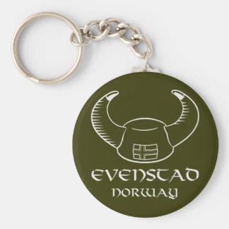 Evenstad Norway Viking Hat Basic Round Button Keychain