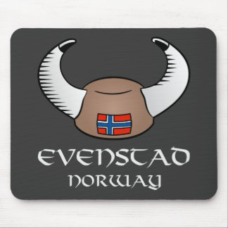 Evenstad Norway Viking Hat Mouse Pad