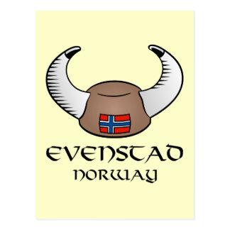 Evenstad Norway Viking Hat Postcard