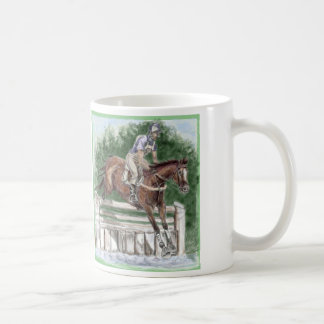 Event and Race Horse in Green Classic White Coffee Mug
