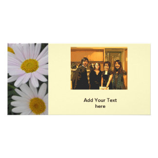 event annoucement card, daisy flowers photo card
