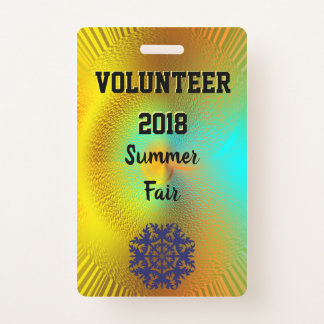 Event Entry ID Badge