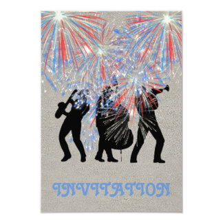Event Fireworks Surprise Invitation Conceptual