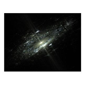 Event Horizon Abstract Fractal Design Postcard