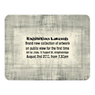 Art exhibition invitations announcements zazzle event invitation exhibition art launch promotion stopboris Image collections