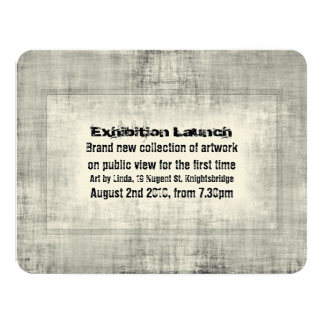 Art exhibition invitations announcements zazzle event invitation exhibition art launch promotion stopboris