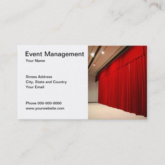 Event Management Business Card Zazzle