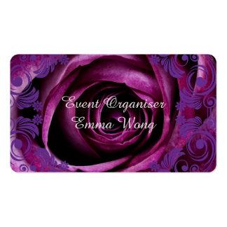 Event Organiser Rose Business Card