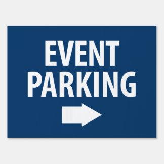 Event Parking Directional Arrow - Blue Yard Sign