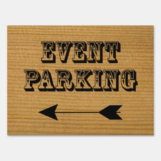 Event Parking Directional Arrow - Wood Yard Sign