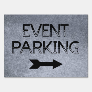 Event Parking Directional Arrow - Yard Sign