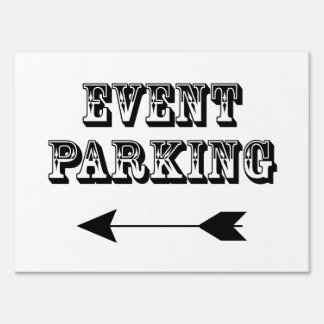 Event Parking Directional Arrow - Yard Sign