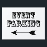 """Event Parking Directional Retro Western Arrow Yard Sign<br><div class=""""desc"""">Event Parking Directional Retro Western Arrow Yard Sign. Offered in 3 sizes. Make parking less chaotic at your summer event by ordering our parking yard signs. It makes it easier for people to follow arrows and see where the best place to park is.</div>"""