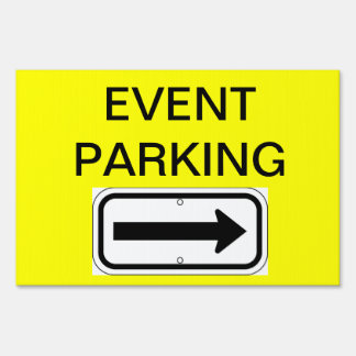 Event Parking Sign