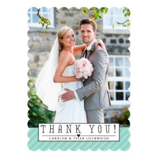 EVENT PHOTO THANK YOU simple overlay cute mint Card