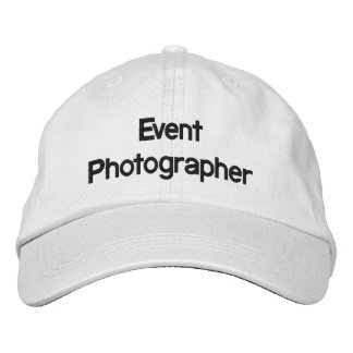 Event Photographer Embroidered Hat