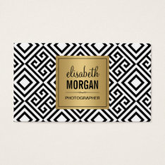 Event Photographer - Modern Abstract Gold Logo Business Card at Zazzle