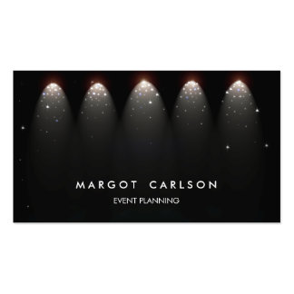 Event Planner and Entertainment Stars and Lights Double-Sided Standard Business Cards (Pack Of 100)