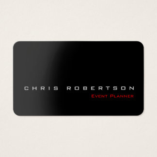 Event Planner Black Gray Red Stylish Business Card