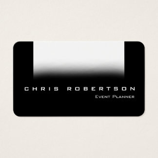 Event Planner Black Gray White Trend Business Card