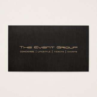 "Event Planner Black Linen ""look""  Professional Business Card"