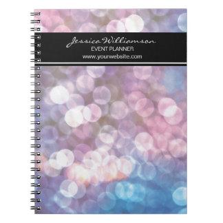 Event Planner • bokeh, sparkle lights, trendy Notebook