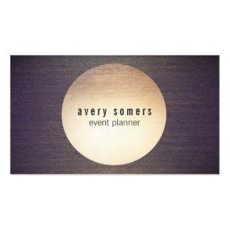 Event Planner Circle Wood Modern Business Card Pack Of Standard Business Cards