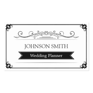 Event Planner - Classy Vintage Frame Business Card Templates