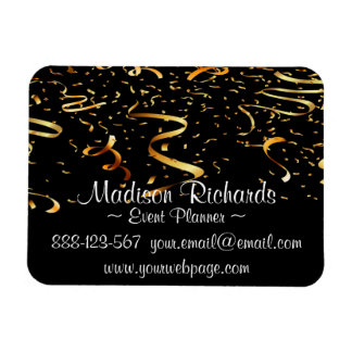 Event Planner Faux Gold Confetti Ribbons Magnet
