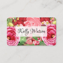 Event Planner Floral Watercolor Style Business Card