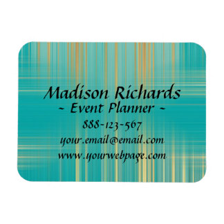 Event Planner Modern Turquoise Pattern Magnet