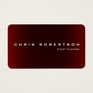 Event Planner Red Attractive Trendy Business Card