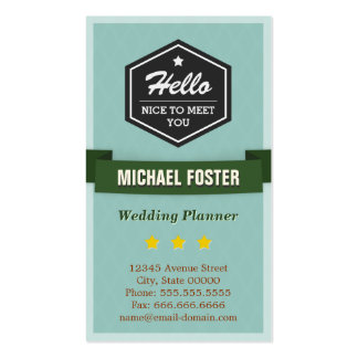 Event Planner - Vintage Style Hello Business Card Template