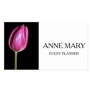 Event Planner Wedding Coordinator Pink Tulips Business Card