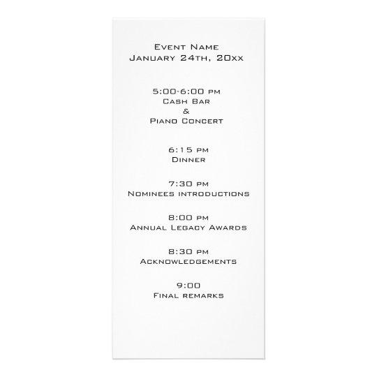 Event program template – Event Program Template