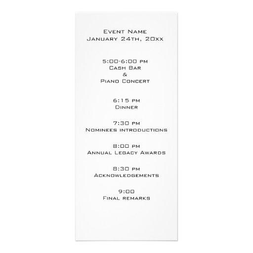 formal event program template .