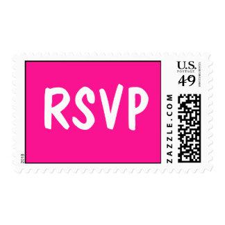 Event RSVP Deep Pink Postage