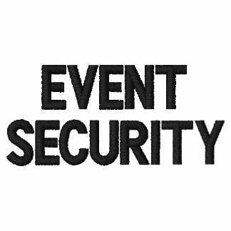Event Security Embroidered Shirt