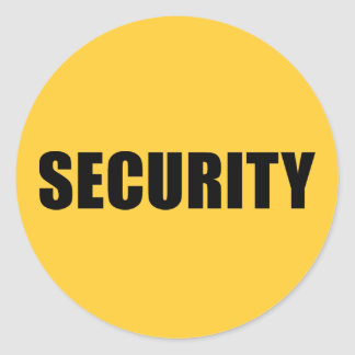 Event Security Round Stickers