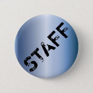 Event Staff Badge grunge metallic Pinback Button