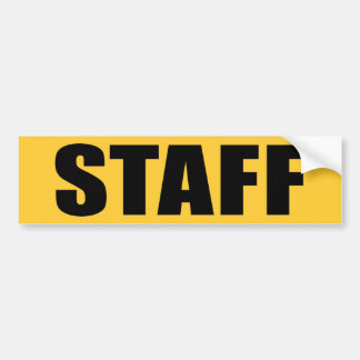 Event Staff Bumper Sticker