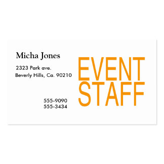 Event Staff Double-Sided Standard Business Cards (Pack Of 100)