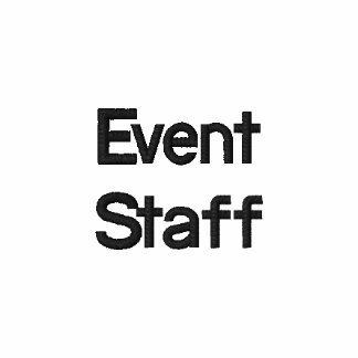 Event Staff, Embroidered Polo Shirts