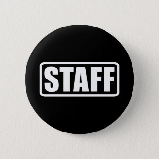 Event Staff Security Crew Gear Pinback Button