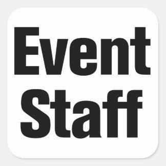 Event Staff Square Sticker